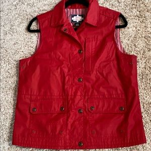Ralph Lauren Naval Supply Co Red Waxed  Vest